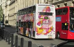 TE914, Whitehall Place, 19/08/14 (aecregent) Tags: rear te 91 metroline whitehallplace enviro400 bulmerscider 190814 comfortdelgro te914 lk58cpf londonbuses2014