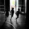 * (donvucl) Tags: light shadow london kids movement running squareformat donvucl fujix100s granarysq