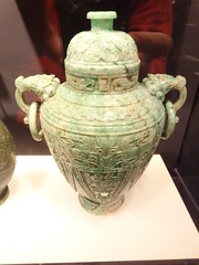 covered vase with loose-ringed handles, Jadeite, 1900-1949 (sftrajan) Tags: sanfrancisco green muse musee vase museo asianartmuseumofsa
