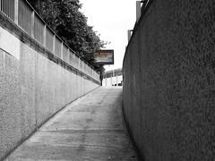 extra care (chrisinplymouth) Tags: pedestrian sign ramp plymouth devon england uk cw69x selectivecolour colourpopping urban subway underpass plymgrp city