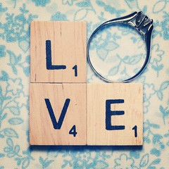L O V E . . . (Jackie TL) Tags: love vintage tile engagement heart amor engagementring ring tiles amour scrabble compromiso anillodecompromiso