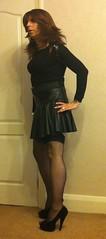 IMG_1391 (Krissi Foster) Tags: sexy stockings tv highheels legs cd tights blouse tgirl transgender tranny transvestite hosiery suspenders pantyhose crossdresser ts tg transsexual shortskirt blackstockings peeptoes