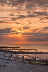 Sunset at Sheringham (reposting) (+Pattycake+) Tags: uk sunset sky seascape evening salmon sheringham eastanglia eastcoast primelens canoneos70d ef40mm