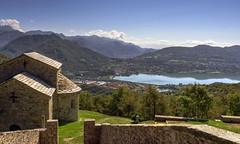 San Pietro al Monte (Fil.ippo) Tags: lake como church abbey lago sigma 71 chiesa monte sanpietro hdr filippo abbazia annone civate d7000 filippobianchi