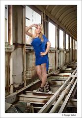 Marina (ruediger.kelkel) Tags: sexy stockings girl fashion rock shiny eisenbahn skirt babe heels pantyhose nylon nylons strumpfhose