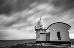 Stormy Lighthouse (Bethany O'Mullane) Tags: ocean sea bw lighthouse storm clouds landscape mono nsw portmacquarie midnorthcoast flickrbronze