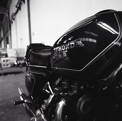 Honda Goldwing (matteo_maifrini) Tags: blackandwhite film honda d76 hasselblad moto motorcycle motor analogica goldwing analogic distagon 500cm pellicola fomapan dista