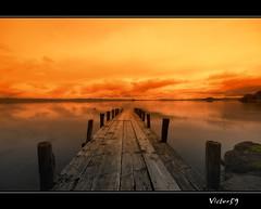 Pontile sul Lago (sirVictor59) Tags: lake nature lago nikon viterbo lazio lagodibolsena nikond300 sirvictor59