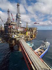 North Sea Oil Platform (Craig Hannah) Tags: sea sky clouds work scotland boat ship offshore pipes platform gas helicopter northsea oil craighannah