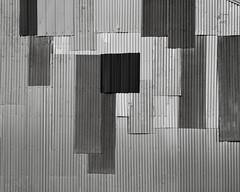 Siding, Joseph, Oregon (austin granger) Tags: abstract film oregon barn joseph aluminum pattern geometry farm silo repair siding chamonix mondrian largeformat austingranger