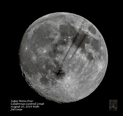 SuperMoon Over California Central Coast August 10, 2014 With Jet Liner (randyandy101) Tags: california ca moon plane coast central jet super cambria supermoon