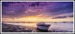 Fin de la faena (ZuperMapH) Tags: ocean sunset sea espaa sun sol clouds river atardecer boat andaluca spain sand guadalquivir barca playa arena cielo cadiz cdiz pesca sanlcardebarrameda