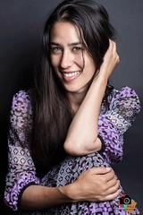 "Photoshoot with wonderful Friend ""Maya"" <3 (Nabiha Hajaig) Tags: portrait bw lebanon girl monochrome studio photography faces beirut canon7d"