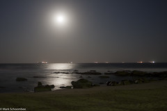 Silver pathway (MarkSA76) Tags: ocean longexposure seascape beach water night southafrica sand fullmoon silky umhlangarocks