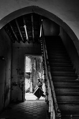 Passing by ! in time. (michael_kofteros) Tags: street door old windows light blackandwhite bw man abandoned photography nikon shadows box candid snapshot steps streetphotography diagonal oldhouse doorway staircase abandonedhouse passerby candidshot whiteblack unoccupied 2470mmf28 d7000 michaelkofteros wooddensteps wooddenrail