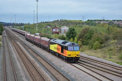 60021 departs toton on 6F58 ratcliffe to liverpool (Iain Wright Photography) Tags: liverpool ratcliffe rail tug coal colas hta toton class60 60021 dbschenker bulkterminal 6f58