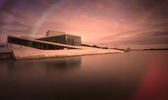 Aberrated Oslo Opera House (Bunaro) Tags: sea house oslo norway canon norge opera long exposure mistake 1740 waterscape noreg nd400 operahuset