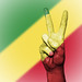Peace Symbol with National Flag of Republic of the Congo
