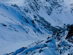 Nice couloir hidden in the Andes