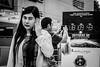 Usage of phone | Bangkok 2016 (Johnragai-Moment Catcher) Tags: people photography smartphone bangkokstreet bangkok siamexplore johnragai johnragaiphotos johnragaibw johnragaistreet olympus omdem1 omdsp blackwhite blackandwhite street streetphotography