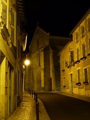 (MAGGY L) Tags: dmcfz200 vivonne rue nuit night églises façades éclairage nobody désert calme silence lampadaire