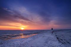 Sunset (Mirek Pruchnicki) Tags: wyszatyce fields snow sunset village winter województwopodkarpackie polska chapel samyang14f28 pentax