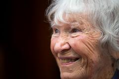 Devoted Celtic Colours fan Barbara Conway, age 95. (photo: Steve Wadden)