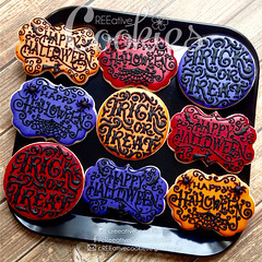 HalloweenHandlettering (cREEative_Cookies) Tags: creeatve cookies ree halloween hallows dia delos muertos candy skulls typography sugar art decorated cookie decorating party theme desserts holiday dessert zombie eyeball nightmare before christmas jack skellington sandy cupcakes spiders pumpkins jackolanterns leaves platter ghosts corn bats blood bloody cut finger ears butcher 3d