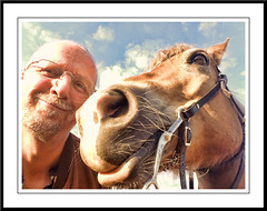 Pret met Sarah (gill4kleuren - 11 ml views) Tags: horse me sarah fun lol gill saar paard pret haflinger