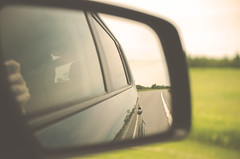 On the Road Back Home (flashfix) Tags: road blue windows sky reflection green grass car mirror nikon driving hand view bokeh knuckle vehicle interstate passenger sideviewmirror 40mm ontheroad seatbelt 2014 i81 warmtones softexposure vintagetones d7000 nikond7000 2014inphotos june172014