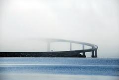 Rundebrua -|- Runde bridge (erlingsi) Tags: bridge mist norway fog scenery europe norwegen bro oc bru tke runde skodde erlingsivertsen oka tkebanker rundebru rundebridge explored150714