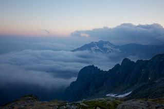 Tramonto dal Bivacco Ledù/Petazzi (2.246 m)