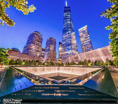911 Memorial WTC (kirit prajapati photography) Tags: apple water worldtradecenter we wtc bigapple 911memorial bluehours weneverforget bestskyline nikond800e bestskylineinworld