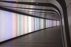 Light Tunnel 04 (Michael Goldrei (microsketch)) Tags: lighting street light david colour london station st wall tom underground square photography lights one major michael photo lab neon colours photographer cross panel spectrum photos tube pedestrian tunnel x led international kings installation sloan animation animated panels gardiner longest curve morrison architects rgb miriam pancras bam stations pipette allies integrated sleeman chipperfield king's lightwall theobald speirs goldrei europe's kcclp