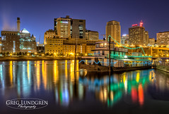 On the Waterfront (Greg Lundgren Photography) Tags: urban reflection skyline night river lights cityscape stpaul mississippiriver twincities saintpaul greglundgren covingtoninn onlyinmn