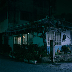 (akira ASKR) Tags: night fuji okinawa  provia100f  hasselblad500cm koza rdpiii  planarcf80mm 201412