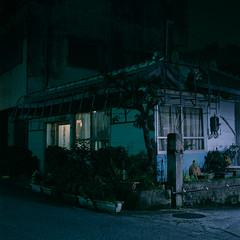 玉美美容室 (akira ASKR) Tags: night fuji okinawa 沖縄 provia100f 夜 hasselblad500cm koza rdpiii 沖縄市 planarcf80mm 201412