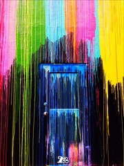 drip door (adorabilia) Tags: door art colors paint houston vivid photographers drip montrose tumblr