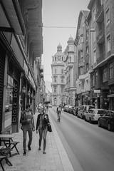(SpeNoot) Tags: street boy girl couple walk pair budapest blackbox x100