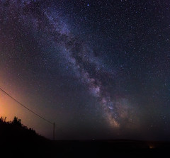 Milky Way (dkphotographs) Tags: blue light red england sky sun moon field night rural dark stars lights star evening cornwall shine darkness purple space sony country galaxy planet nightsky universe starry milkyway starlight deepsky alpha57 sonyalpha57