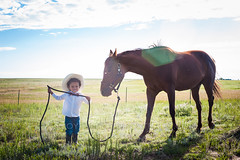 On The Ranch (JoyfulErika) Tags: horse colorado farm western littlecowboy