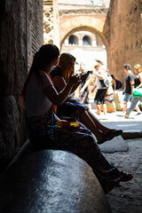 Chilling on a pillar! (eveyphotography) Tags: travel family summer holiday rome silhouette june fun italian european vespa roman july colosseum panini archofconstantine