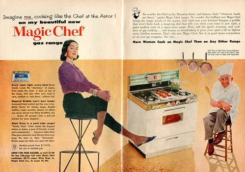 magic gas advertisement chef april 1956 06 range digest readers