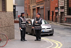 Traffic Wardens (tea3man) Tags: street vw court golf manchester clamp uniform traffic parking fine police ticket points warden penalty pcso clamped