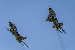 """Polish Air Force Sukhoi  Su-22M4s """"Fitters"""" (Explored #73 14/07/2014) (John Ambler) Tags: two force air royal polish international 73 2014 sukhoi explored 9612 9616 fitters su22m4s 14072014"""