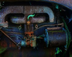 green pipe (lowooley.) Tags: tractor green pipe engine catswhiskers