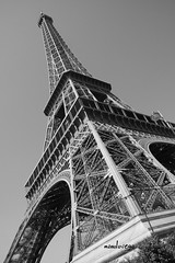 Torre Eiffel (manolovega) Tags: bw byn blancoynegro canon blackwhite torre eiffel pars canon40d manolovega