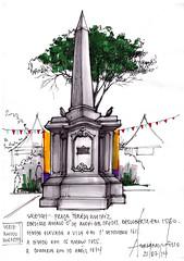 Marco Zero de Mogi das Cruzes (AdrianoMello) Tags: sketch obelisco markers mogidascruzes hidrocor sketchurbans centrohistricodemogidascruzes sketchfolium