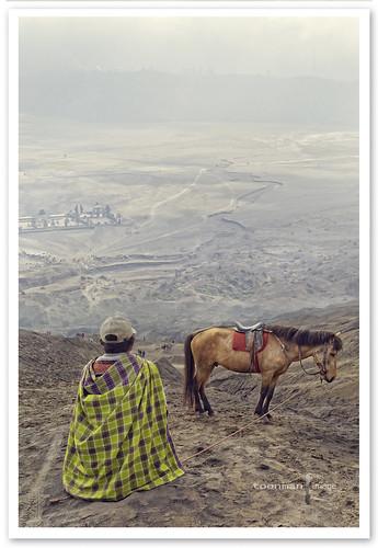 Horseman of Mount Bromo, East Java, Indonesia.