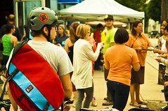 Arriving to Register (Light Brigading) Tags: haircut bike bicycle wisconsin race paul bicycling ceremony jeremy line milwaukee opening hours 24 coop bonus grocery starting checkpoint laps prach riverwest kjelland riverwest24 rw24 paulkjelland jeremyprach occupyriverwest bonuslap chrisfons